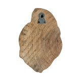 "MANGO WOOD CARVED WALL HANG 8"" - LEAF"