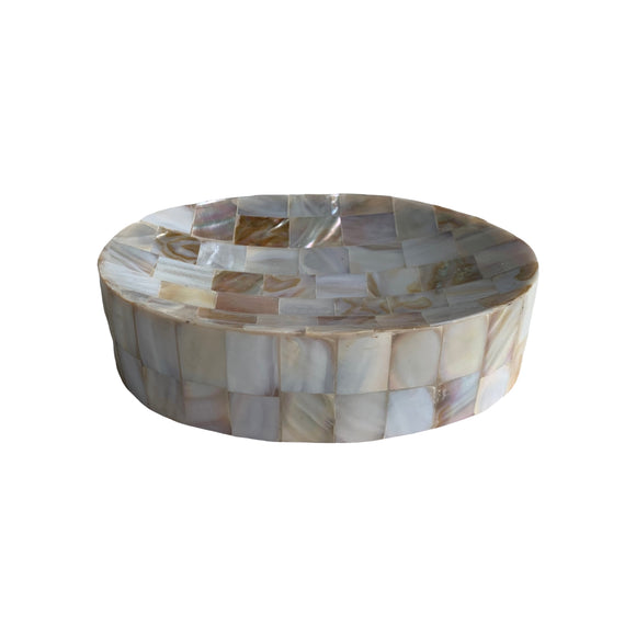 MOTHER OF PEARL SOAP DISH OVAL 6