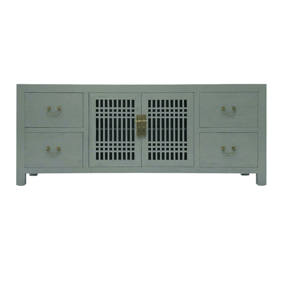 TV CONSOLE LATTICE 1.8M GREY WASH MQZ-11