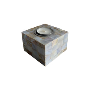 "MOTHER OF PEARL TEALIGHT 2.5X4"" SQUARE"