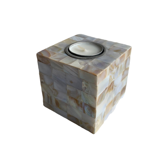 MOTHER OF PEARL TEALIGHT 4X4