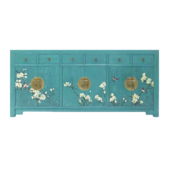 SIDEBOARD FLEUR 6DW6DR TURQUOISE WASH MQZ-18