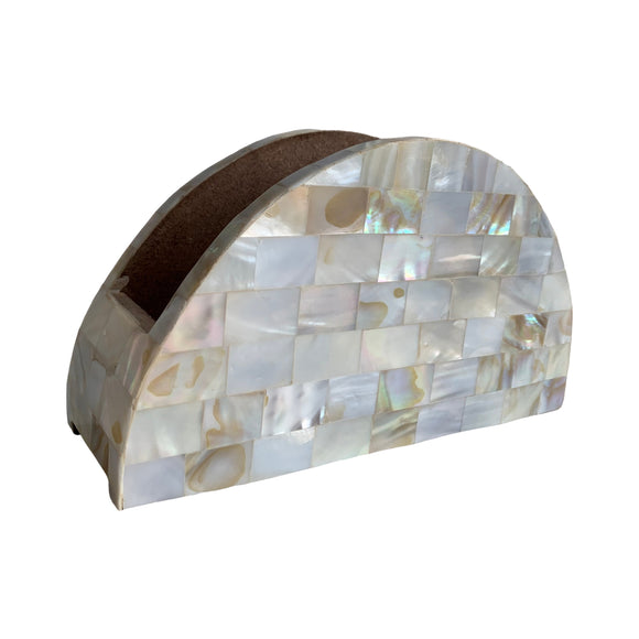 MOTHER OF PEARL NAPKIN HOLDER 8