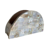 MOTHER OF PEARL NAPKIN HOLDER 8""