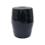 DRUM STOOL PLAIN BLACK