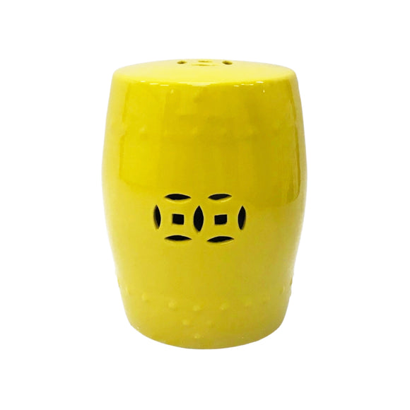 DRUM STOOL PLAIN DARK YELLOW