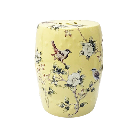 DRUM STOOL MAGNOLIA PALE YELLOW