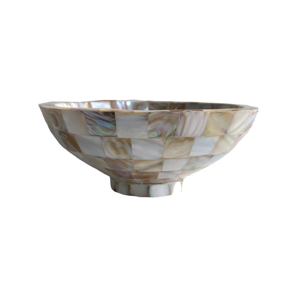 MOTHER OF PEARL ROUND BOWL 6