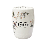 DRUM STOOL MAGNOLIA WHITE
