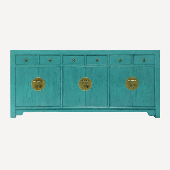 SIDEBOARD ORIENT 6DW6DR TURQUOISE WASH MQZ-18