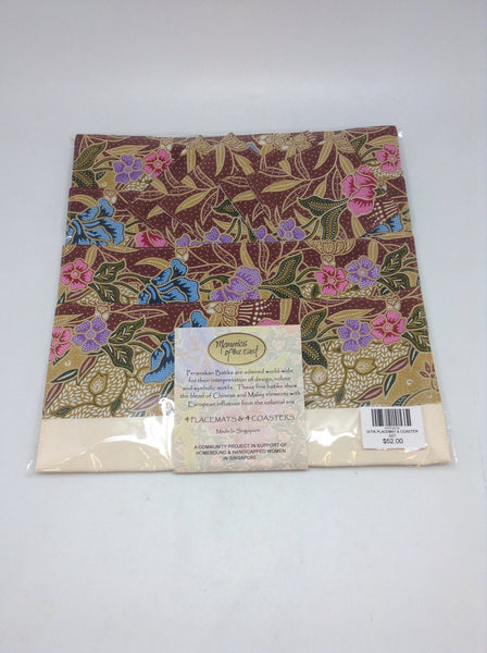 BATIK PLACEMAT & COASTER SET