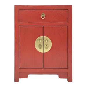 CABINET ORIENT 1DW2DR RED WASH MQZ-08