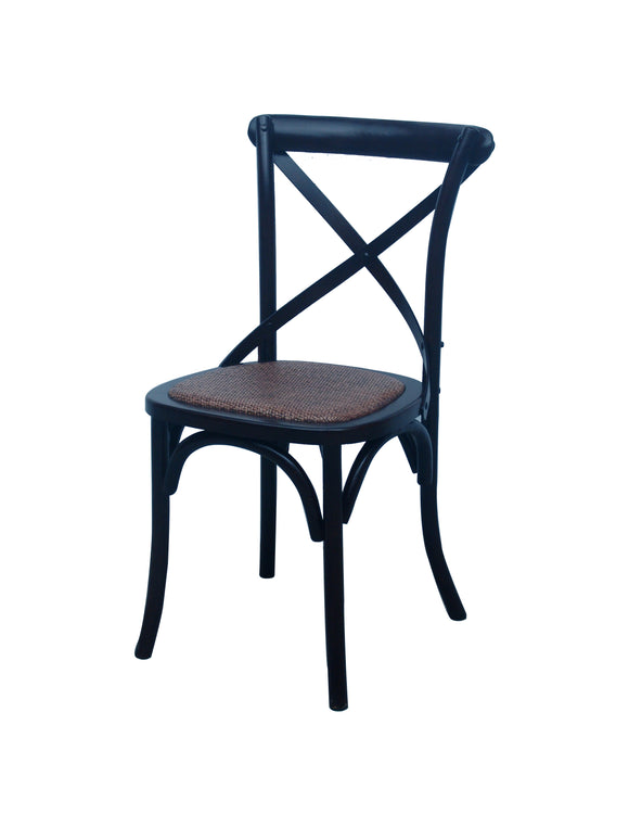 CHAIR DINING CROSSBACK BLACK MQZ-207