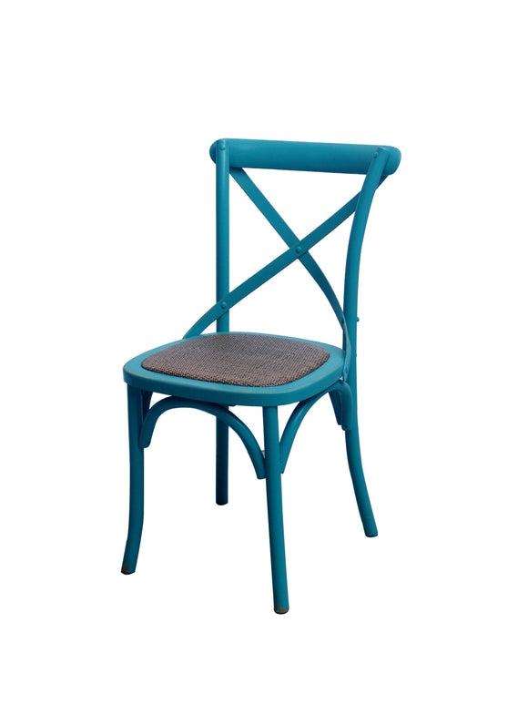 CHAIR DINING CROSSBACK TURQUOISE MQZ-207