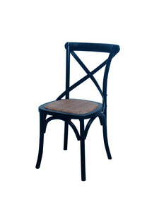 CHAIR DINING CROSSBACK DARK WOOD MQZ-207