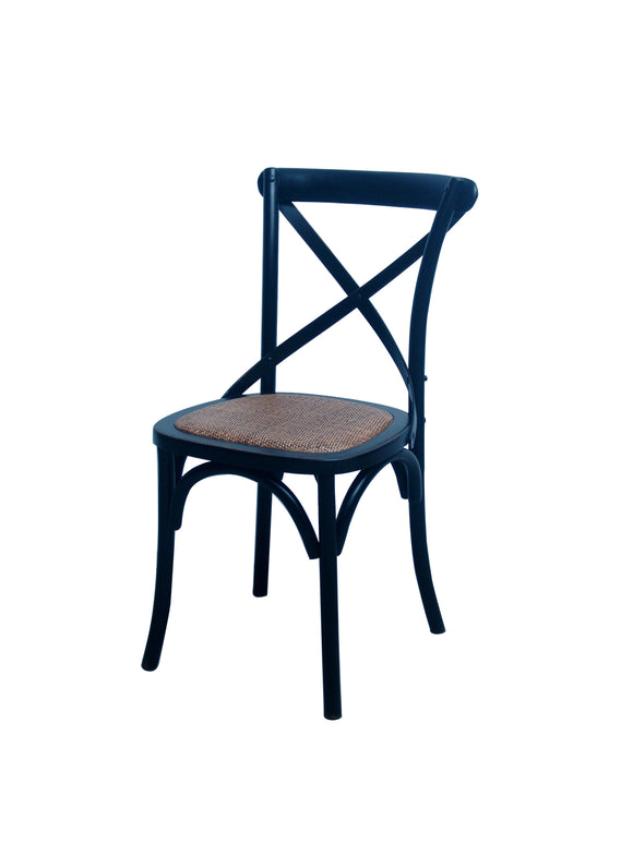 CHAIR DINING CROSSBACK DARK WOOD