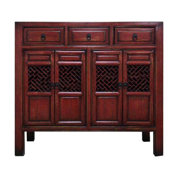 SIDEBOARD KITCHEN 4DR4DW RED 4CH-114