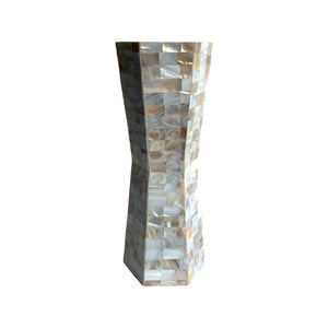 MOTHER OF PEARL FLOWER VASE 12""