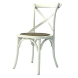 CHAIR DINING CROSSBACK WHITE MQZ-207