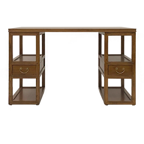 WRITING DESK 2DW LIGHT WOOD 5CH-004