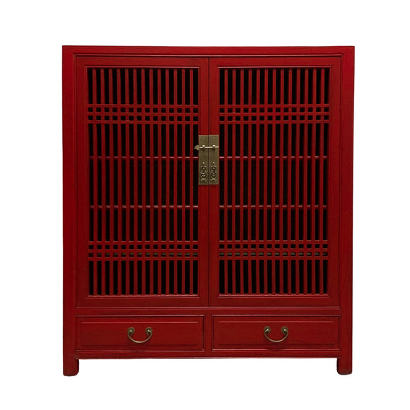 CABINET LATTICE 2DW2DR RED WASH MQZ-35