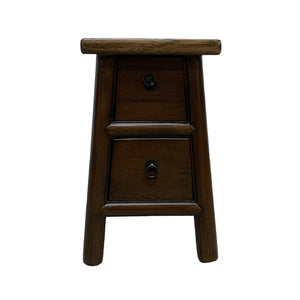 STOOL LIANG 2DW DARK WOOD MQZ-204