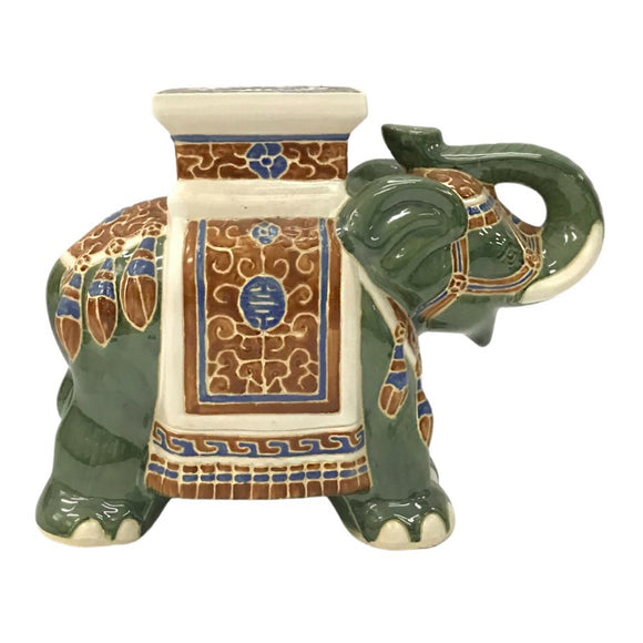 CERAMIC ELEPHANT WHITE JADE #201908