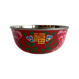 STEEL HANDPAINTED FRUIT BOWL 18CM RED