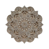 "MANGO WOOD CARVED WALL HANG 8"" - FLOWER #1"
