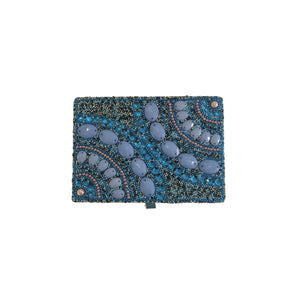 "BEADED JEWEL BOX 5X7"" BLUE"