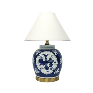 LAMP BLUE & WHITE ARMAND TREE
