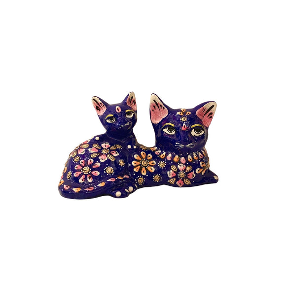 DOUBLE CAT ENAMEL BLUE 5