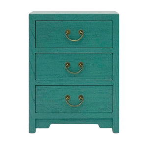 CABINET 3 DRAWER TURQUOISE WASH MQZ-39