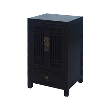 CABINET LATTICE 1DW2DR DARK WOOD MQZ-26