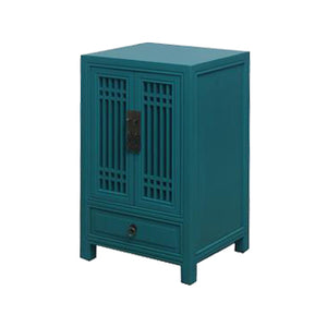 CABINET LATTICE 1DW2DR TURQUOISE MQZ-26