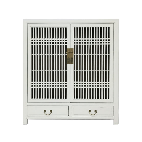CABINET LATTICE 2DW2DR WHITE WASH MQZ-35