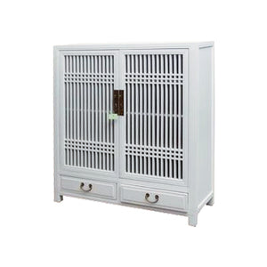 CABINET LATTICE 2DW2DR WHITE MQZ-35