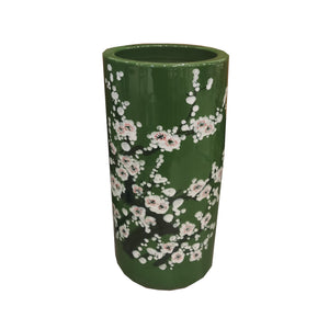 UMBRELLA STAND DARK GREEN PORCELAIN 20""