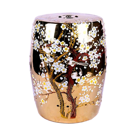 DRUM STOOL GOLD CHERRY BLOSSOM