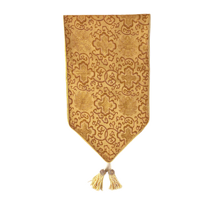 BROCADE TABLE RUNNER 2.5M GOLD