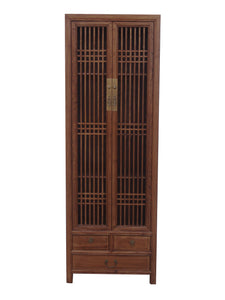 NARROW CABINET LATTICE LIGHT WOOD MQZ-12