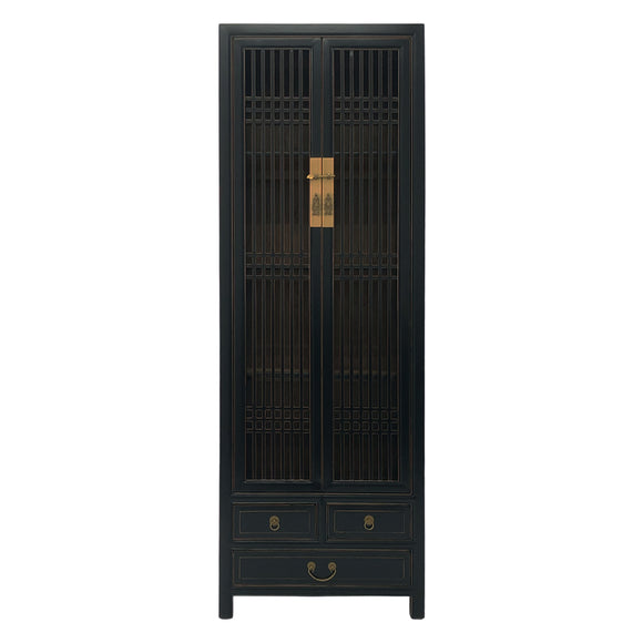 NARROW CABINET LATTICE BLACK MQZ-12