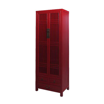 NARROW CABINET LATTICE RED WASH MQZ-12