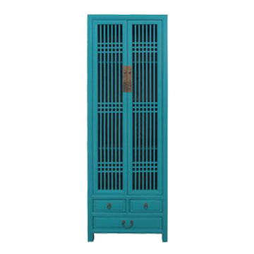 NARROW CABINET LATTICE TURQUOISE MQZ-12