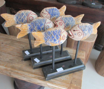WOODEN FISH - PAIR CH-075