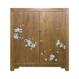 SHOE CABINET FLEUR 2 DOOR LIGHT WOOD