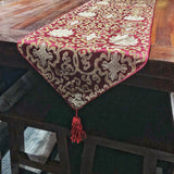 BROCADE TABLE RUNNER 2.5M DARK PURPLE