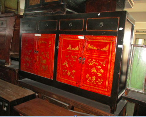 DONGBEI SIDEBOARD PAINTED 4DR4DW CH-026 *OLD PIECE*