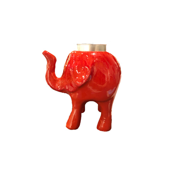 ALUMINIUM ENAMELED ELEPHANT TEALIGHT 4