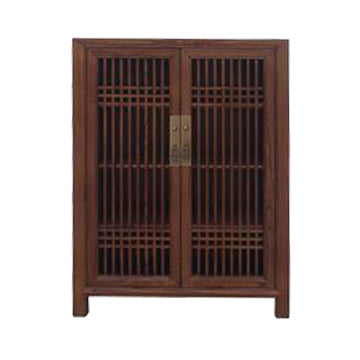 SHOE CABINET LATTICE 2DR LIGHT WOOD MQZ-07